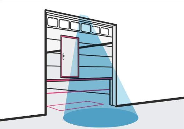Vertical sliding doors - Application example fortop