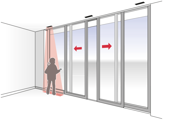 Secure sliding door - BBC Bircher smart access