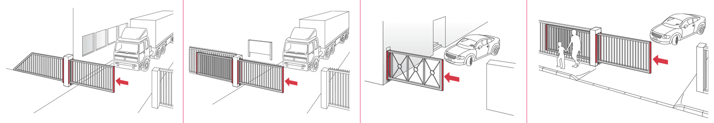 Different sliding gates and fences - Application example
