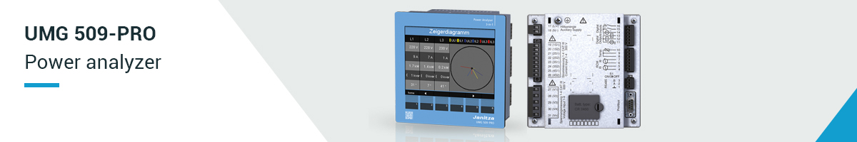 Power analyzer UMG 509-PRO - Janitza