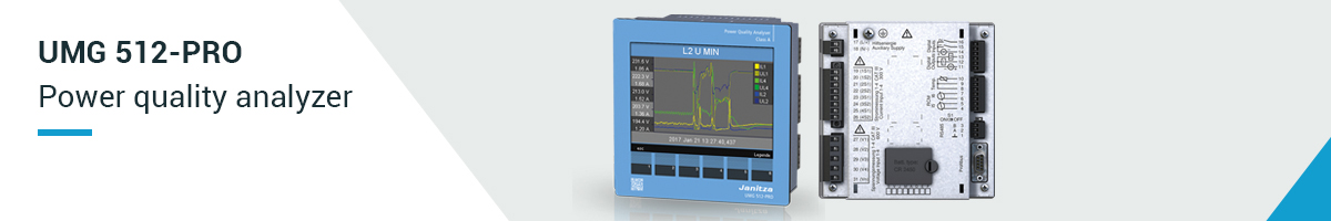 Power quality analyzer UMG 512-PRO - Janitza