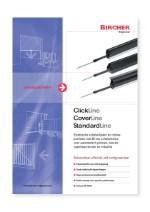Bircher Reglomat Clickline, Coverline and Standardline