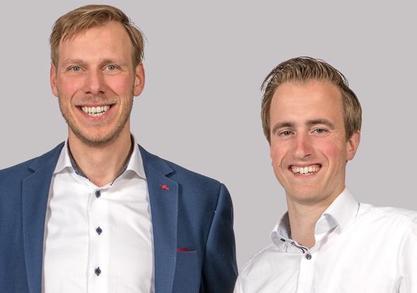 Measurement specialists Jarno Schoen and Joeri Kruithof - Fortop Automation & Energy Control