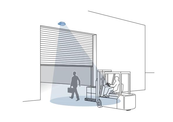 Vertical industrial door Access sensor | Bircher Reglomat