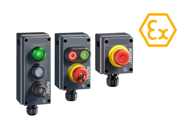 Ex BF 80 series pushbuttons and actuators ATEX - steute