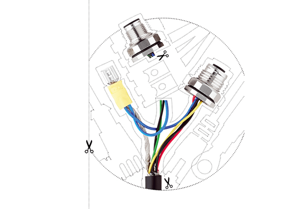 M12 power custom made cables and connectors - ESCHA