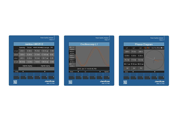 Intuitive large color screen - Janitza UMG 509-PRO