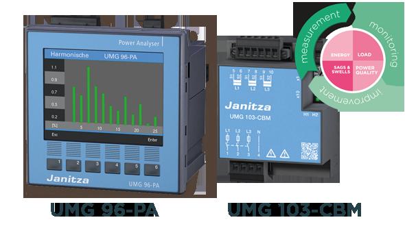 Universal energy meters UMG 96PA and UMG 103-CBM - Janitza