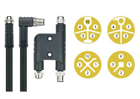 M12 power cables and connectors - ESCHA