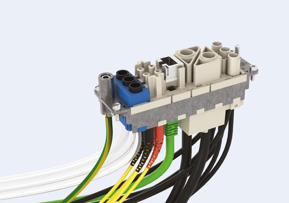 Modular multipole connector system - MIXO - ILME