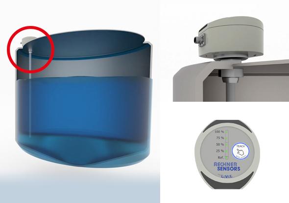 Capacitive level sensor for analogue level measurement - Rechner Sensors