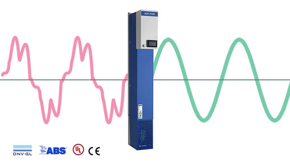 P100 Active harmonic and dynamic filter - Comsys
