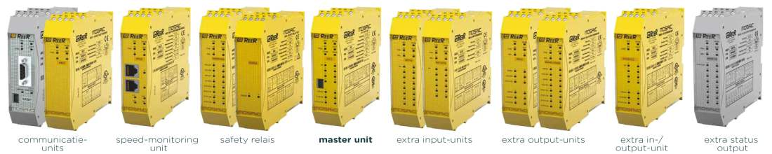 Configurable safety relay with 14 expansion units | ReeR