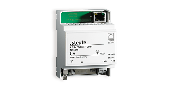 Switchgear for wireless networks USB receiver and TCP/IP gateway - steute