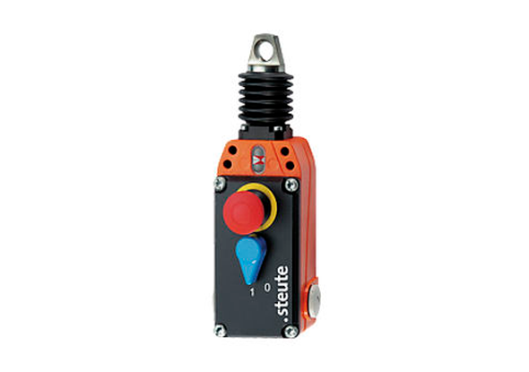 Pull wire switches with recovery button and emergency-off button | steute