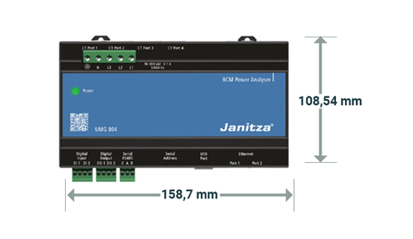Dimensions UMG 804 - Janitza