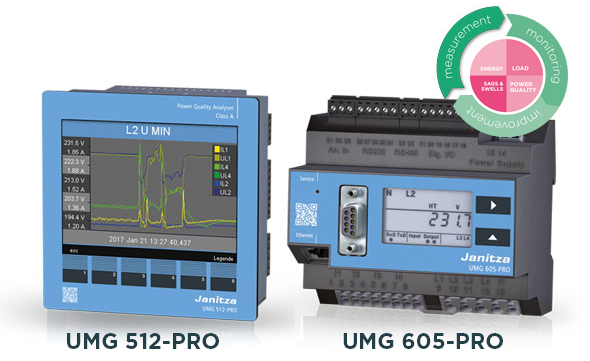 Power Quality analyzers UMG 512-PRO and UMG 605-PRO - Janitza