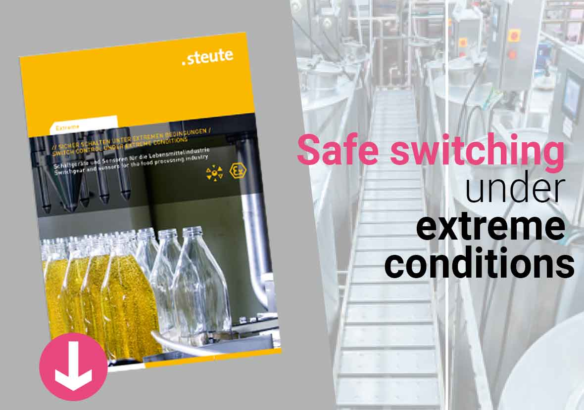 Safe switching under extreme conditions - steute extreme