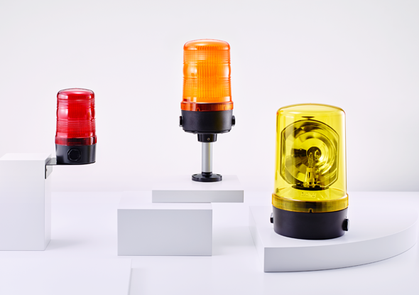 Modular rotating lamps with turning mirror | Auer Signal